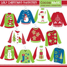 Christmas Sweater Party Ideas - ugly sweater party clipart clipartxtras