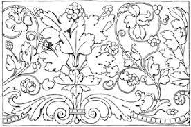 renaissance ornament vine clipart etc