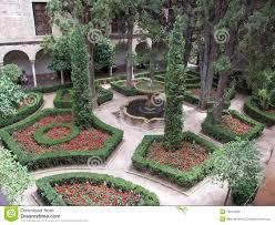 inside garden la alhambra royalty free stock photo image 19243235