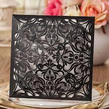 black wedding invitations laser cut wedding invitations white paper black wedding invitation