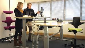 Sit Stand Desks Sit Stand Desk The Back In Desk Shown Here In Silver