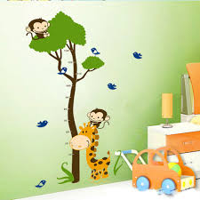 brown beige animal nursery wall decal tree jungle wall sticker full size of baby nursery monkey tree height chart nursery wall decal removable animal wall