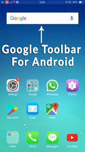 google toolbar for android google search bar on home screen