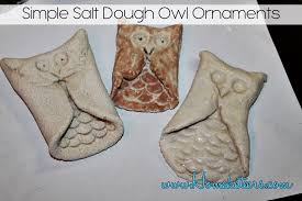 simple salt dough ornaments owl tutorial