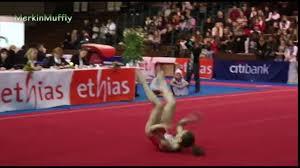 italian gymnast wardrobe malfunction floor routine video dailymotion