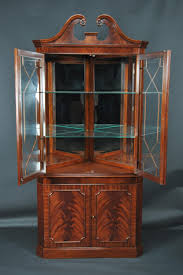 Corner Lighted Curio Cabinet Curio Cabinet 5129303 Z Antique Federal Style Handmade Mahogany