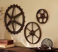 rustic gears set pottery barn