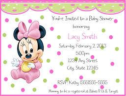Customized Birthday Invitation Cards Free Nice Baby Minnie Mouse Birthday Invitations Birthday Invitation