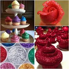eddible glitter edible glitter frosting cupcakes
