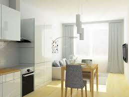 studio cuisine petit appartement studio cuisine et salon dans des tons gris