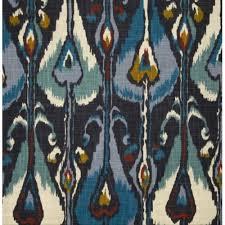 Indigo Home Decor Ikat Bands Slub Indigo Home Decor Fabric By Robert Allen Home