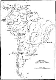 map of and south america black and white heritage history stories of south america by e c