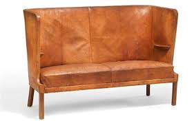 two seater high back sofa with cuban mahogany legs by frits