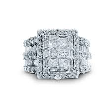 engagement rings sears tradition 4 cttw princess cut 10k white gold