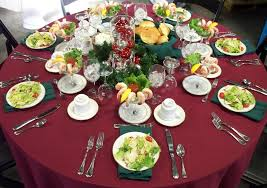 Dining Table With Food Dining Room Restaurant Table Decoration Ideas White Plate Dining