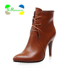 s boots ankle s boots ankle plus size 33 43 high thin heels lace