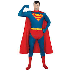 Skin Suit Halloween Costume Superman Deluxe Muscle Chest Costume Morph Costumes