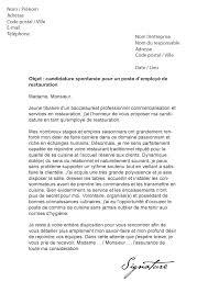 lettre de motivation cuisine collective lettre de motivation employé de restauration modèle de lettre