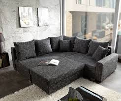 Wohnzimmer Hocker Ecksofa Lavello 210x210 Schwarz Sofa Mit Hocker Möbel Sofas Ecksofas
