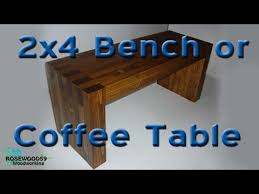 Bench Made From 2x4 How To Make A 2x4 Bench Or Coffee Table Youtube