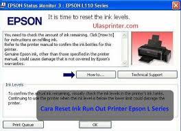reset printer l210 manual 100 work cara reset ink waste is full epson l110 l210 l300 l350