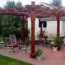 pergola with retractable canopy covers outdoor living today