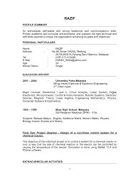 Resume Sle Doc Malaysia resume format malaysia pdf danaya us