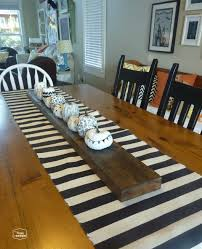 Adorable Table Runner Ideas In Dining Room Transitional Diy Striped Dropcloth Table Runner With Krista From The Happy