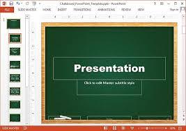 free chalkboard powerpoint templates