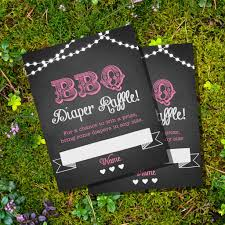 chalkboard bbq baby shower diaper raffle cards for a