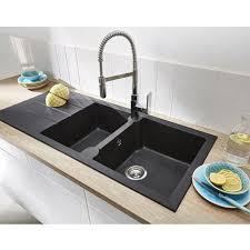 lavabo pour cuisine evier à encastrer noir 2 cuves pyrite castorama cuisine