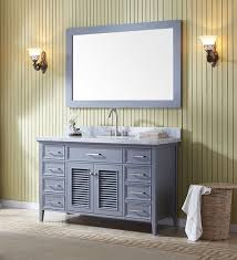 55 Inch Bathroom Vanities by Ariel Kensington Single 55 Inch Transitional Bathroom Vanity Set