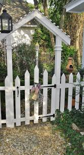 garden arbor with gate white home outdoor decoration