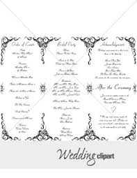 blank wedding program templates ornate trifold program wedding templates