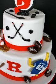 Hockey Cake Decorations Sports Cake Groom U0027s Cake The Hudson Cakery