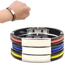 metal silicone bracelet images Newest fashion men titanium steel silicone bracelet bangtan boys jpg