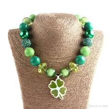 chunky necklace charms images Children girl shamrock necklace toddler four leaf clover vital jpg