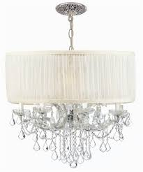 Chrome Crystal Chandelier by Buy 8 Lights Polished Chrome Chandelier Draped W Crystal