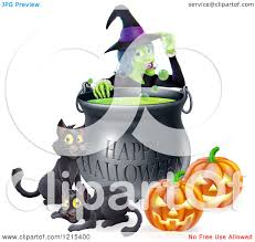 happy halloween clipart free clipart of a witch behind a boiling happy halloween cauldron with