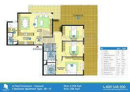 three bedroom flat floor plan apartments three bedroom ground floor plan floor plan of al reef