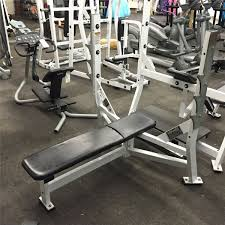 hammer strength olympic flat bench press station