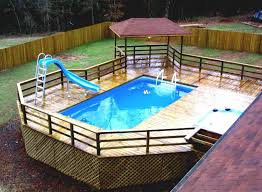 above ground pool ideas for small backyards backyard fence ideas