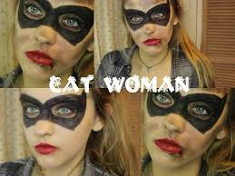 catwoman makeup halloween last minute cat woman halloween makeup youtube