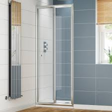 1000mm bi fold shower door 4mm soak com loversiq
