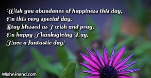 wish you abundance of happiness this thanksgiving card message