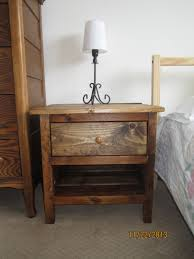 How To Make A Wooden Bedside Table by Ana White Reclaimed Wood Bedside Table Diy Projects