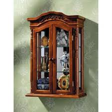 Wooden Shelf Gallery Rails by Curio Cabinet Hanging Curio Cabinets Cabinet In Dark Wood With