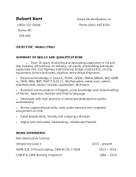 Welding Resume Examples Oil And Gas Resume Examples Customer Service Trainer Resume