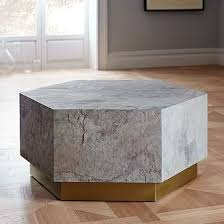 west elm accent table geo hex coffee table geo coffee and living rooms