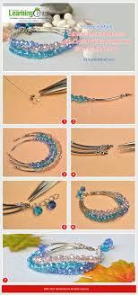 crystal glass bracelet images 3 steps to make a three strand bracelet with crystal glass beads jpg